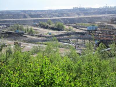 Blick über den Braunkohletagebau Vereinigtes Schleenhain