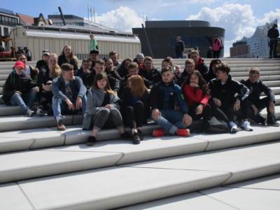 Hamburger Hafen Gruppenfoto