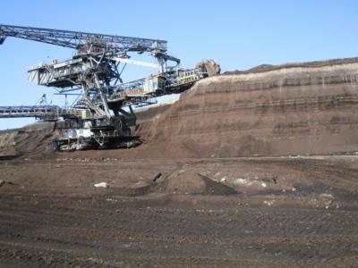 Es wird Kohle abgebaut